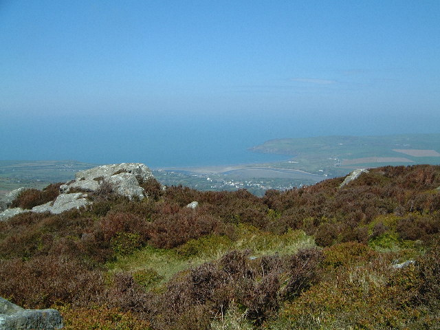 View to Newport Pembs from Carn Ingli on the Preselis