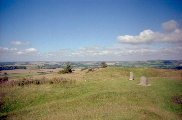 Top of  Old Winchester Hill fort looking NW