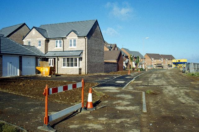 New housing, Cawston Grange Estate