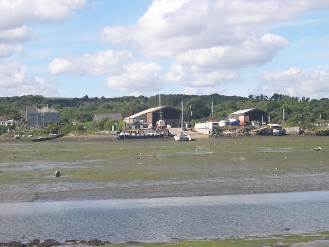 Boatyards at Southdown on the Insworke peninsula