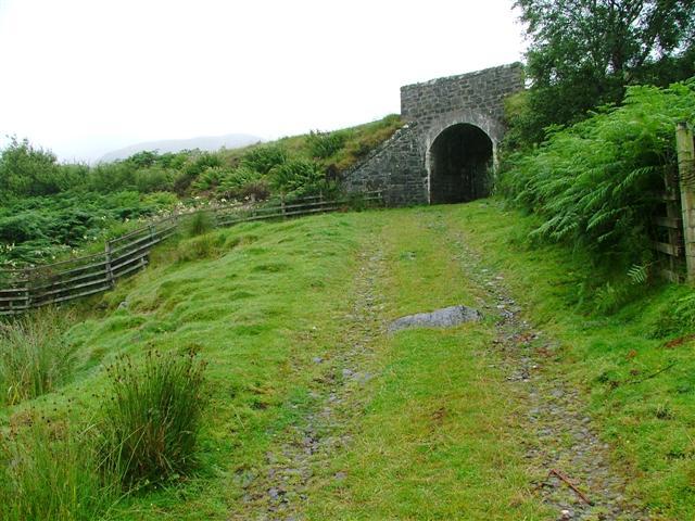 Bridge under the West Highland Railway at Kinloid