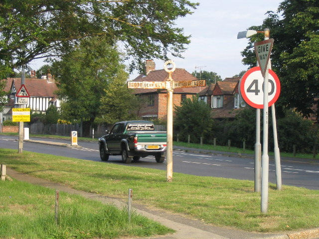 Fingerpost, Little Common Road, Bexhill, Sussex