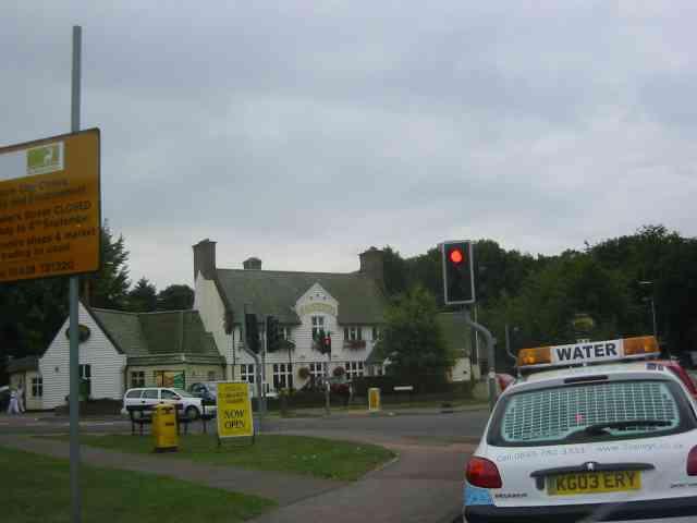 Harvester Pub on Harpenden Road crossing