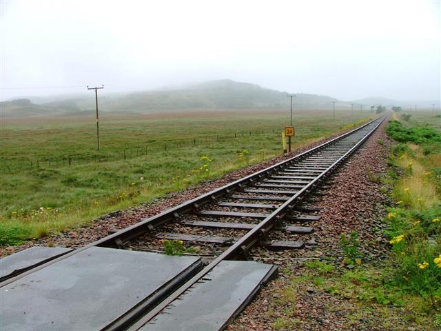 West Highland Railway across the Mointeach Mhor