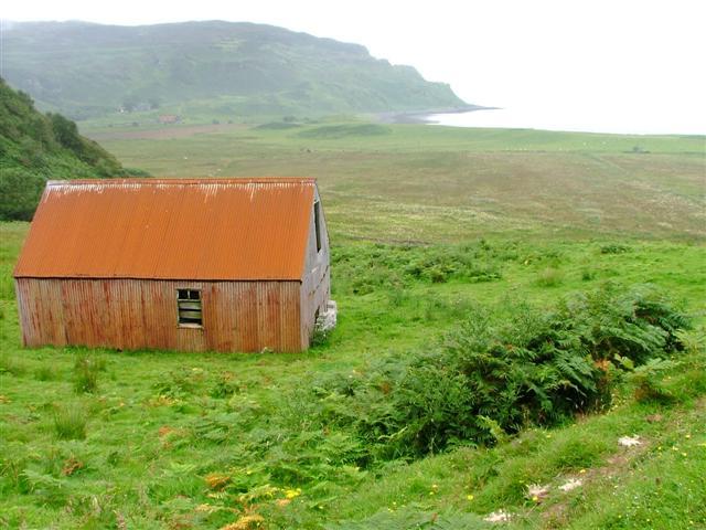 Barn below Bealach Clithe