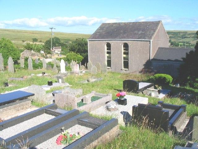 Mountain Chapel south of Garnswllt