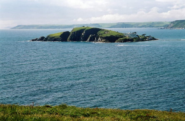 Burgh Island from the South West Coast Path