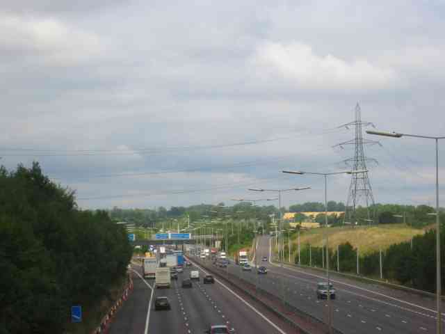 The M25 taken from Lye Lane bridge  Smug Oak