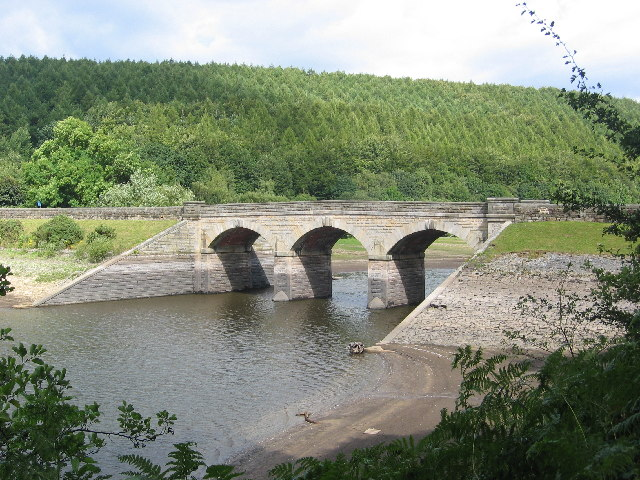Bridge over Lindley Wood Reservoir