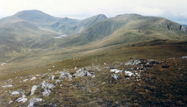 Meall Greigh, Looking WSW  towards Ben Lawers - Meall Garbh ridge