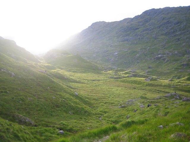 Between Loch Quoich and Lochan nam Breac