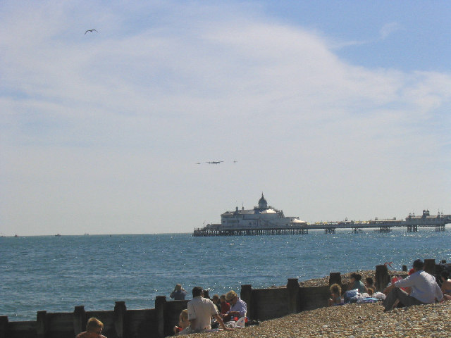 Fly-pass over Eastbourne Pier, Sussex