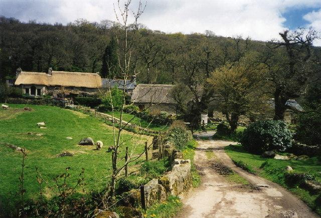Lustleigh: bridleway near Foxworthy
