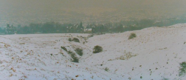Ilkley Moor in the snow.