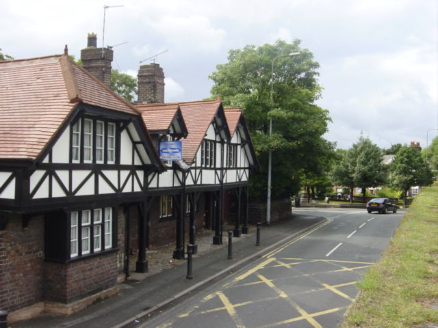 Black and white cottages, Bluebell Lane, Huyton