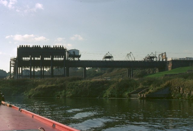 Anderton Boat Lift from the River Weaver