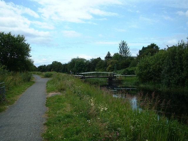 Farm road drawbridge