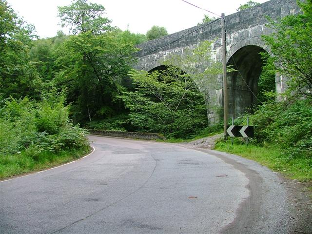 Larichmore Viaduct and the A830