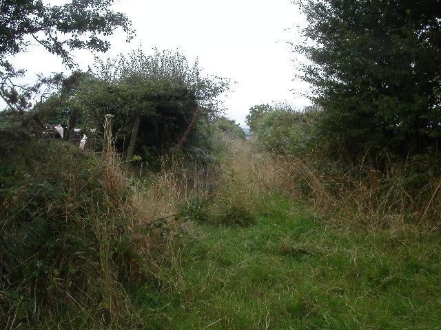 Junction of Bridleway
