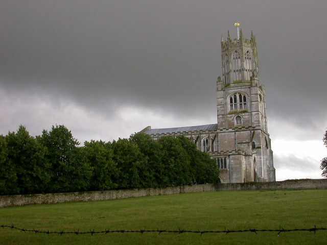 Church with storm brewing