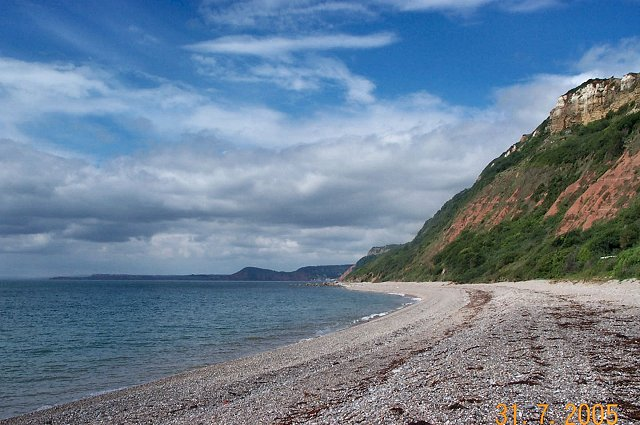 The beach near Branscombe