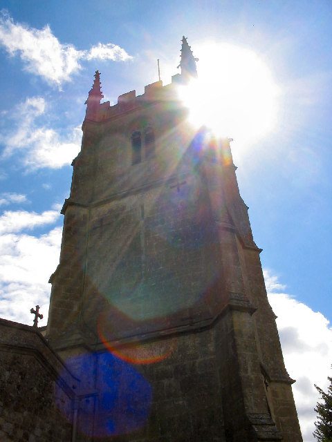 Avebury Church, Lens Flare