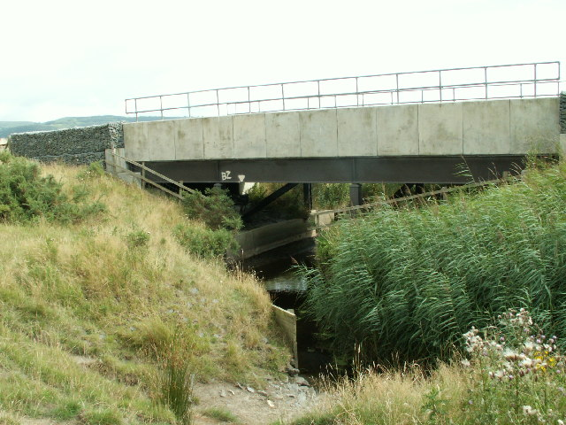 Railway bridge, Dyfi embankment