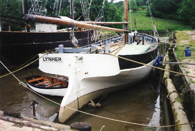Morwellham: restored Tamar sailing barge 'Lynher'