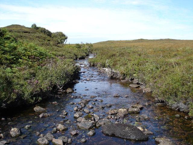 River draining Loch an Draing into Loch nan Eun