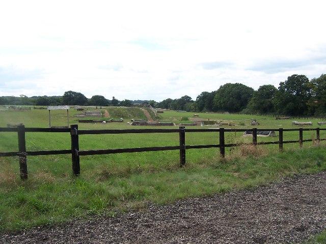 Training area, Hoplands Equestrian Centre, Kings Somborne