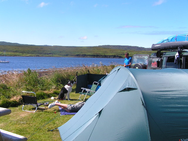 Campsite on Loch Greshornish, Isle of Skye