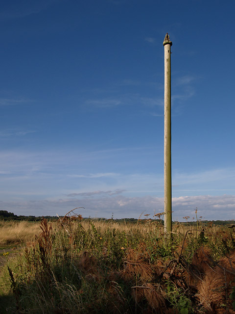 Windsock pole - Closelake. Isle of Man.