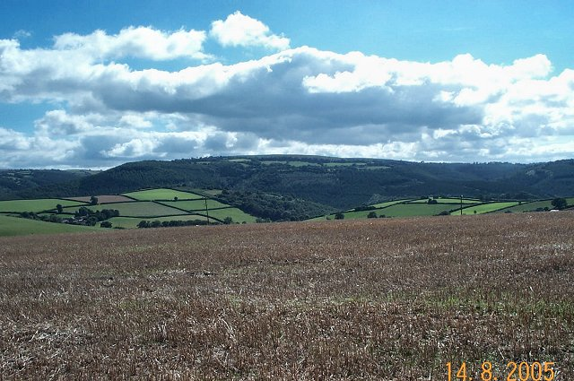 Teign valley from Dunsford