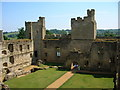 TQ7825 : Inside Bodiam Castle by Liz Williams