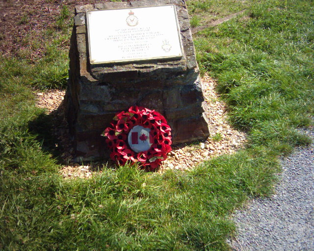 Memorial stone for a crashed WW2 bomber