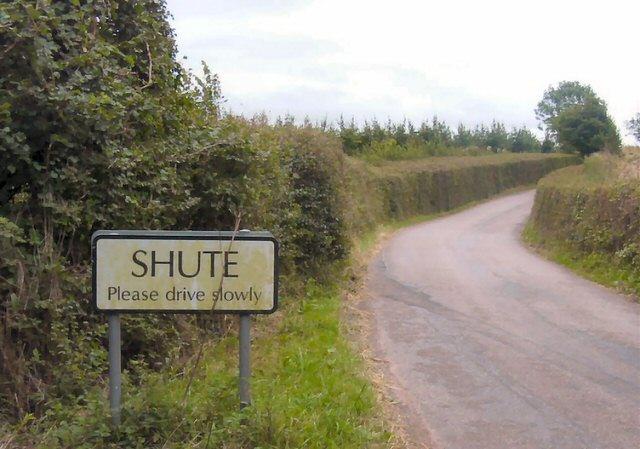 Shute village sign