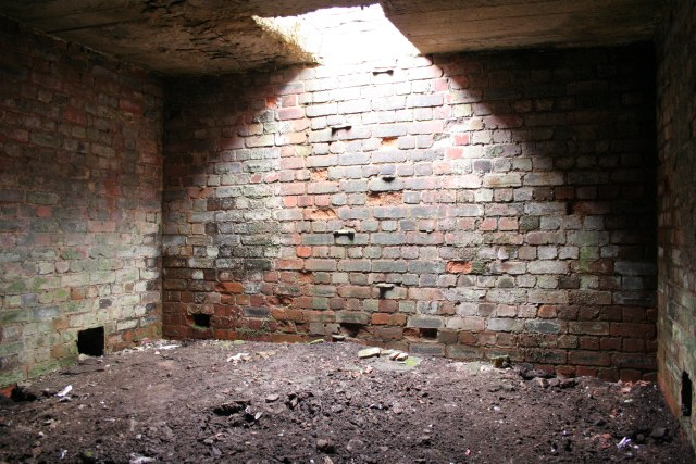 Interior of bunker, Slate Delfs Hill