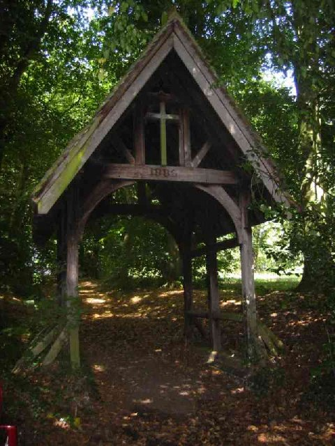 Lych Gate entrance to the cemetery East Lane