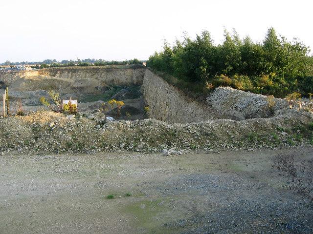 Limestone quarry, near Buckminster