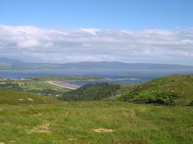 Carradale Bay and the Point from  Beinn Breac