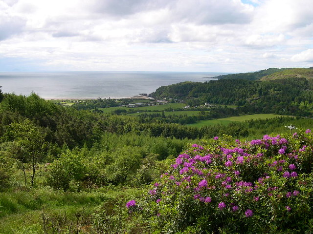 Waterfoot, Carradale from the approaches to Deer Hill