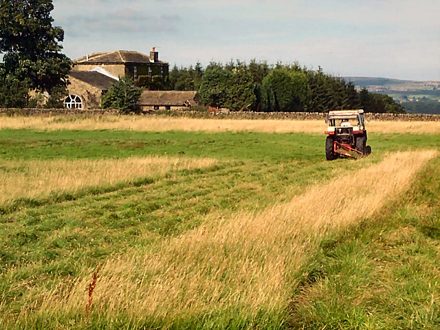 Making hay at Hallas Cote Farm