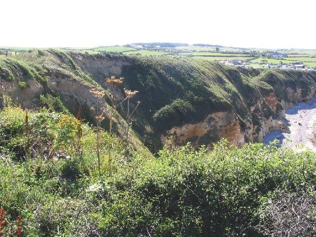 Cliffs at Church bay