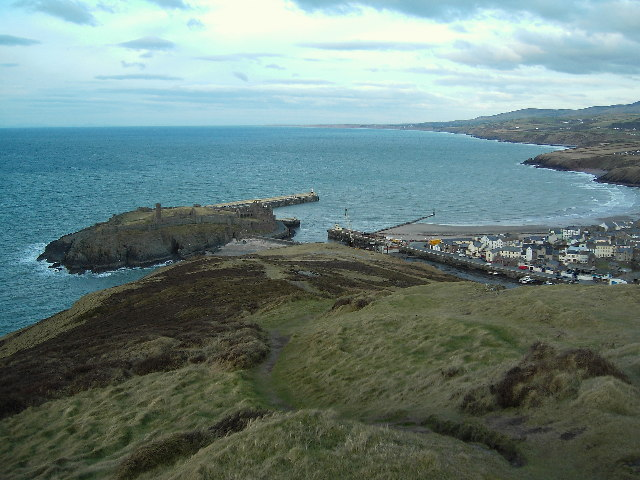 St. Patrick's Isle and Peel Bay from Peel Hill