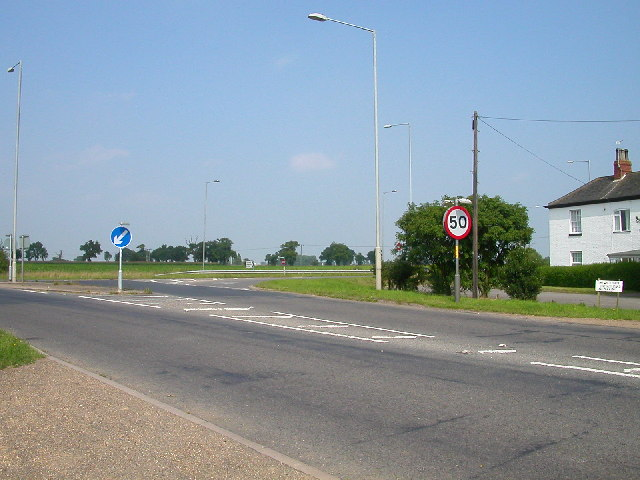 The White House Junction on the A47 west of Acle