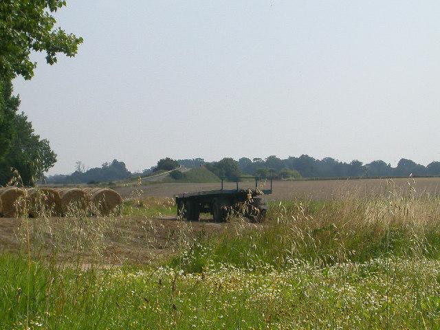 Farmland beside the B1140