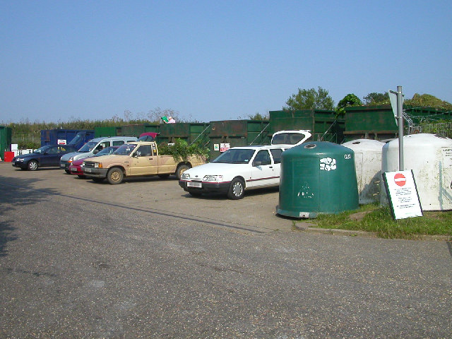 The recycling site at Strumpshaw