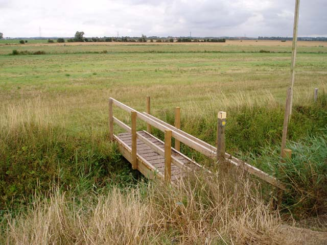 Footbridge on Teversham Fen