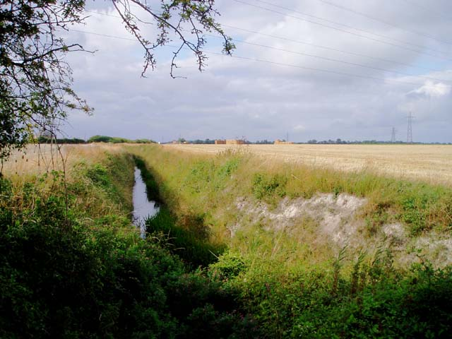Ditch across Teversham Fen