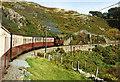 SH6741 : Ffestiniog Railway: train approaching Cambell's Platform by Martin Bodman